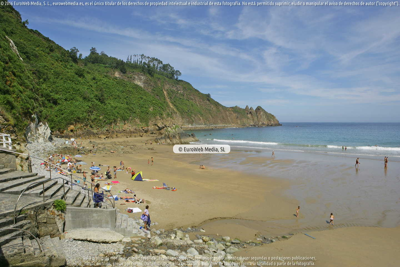 Fotografía de Playa de Campofrío en Cudillero. Asturias. España.
