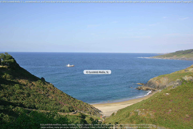 Fotografía de Playa Arnielles en Coaña. Asturias. España.
