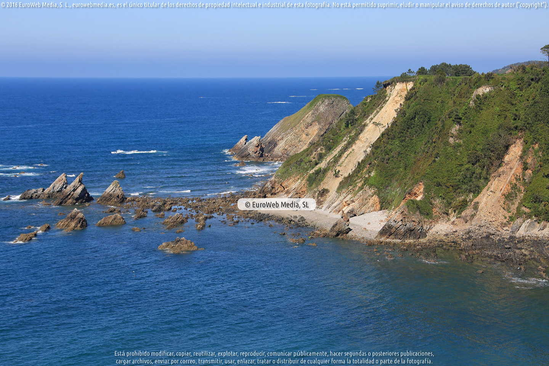 Fotografía de Playa de Castello en El Franco. Asturias. España.