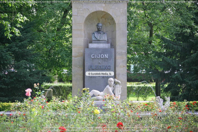 Fotografía de Escultura «Alexander Fleming» en Gijón en Gijón. Asturias. España.