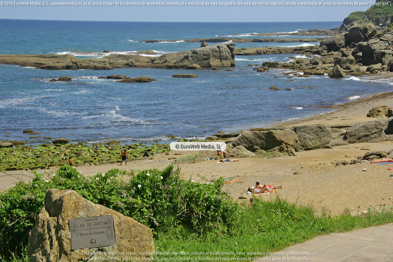 Fotografía de Playa Estaño en Gijón. Asturias. España.