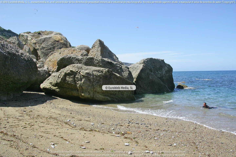 Fotografía de Playa de la Cagonera en Gijón. Asturias. España.