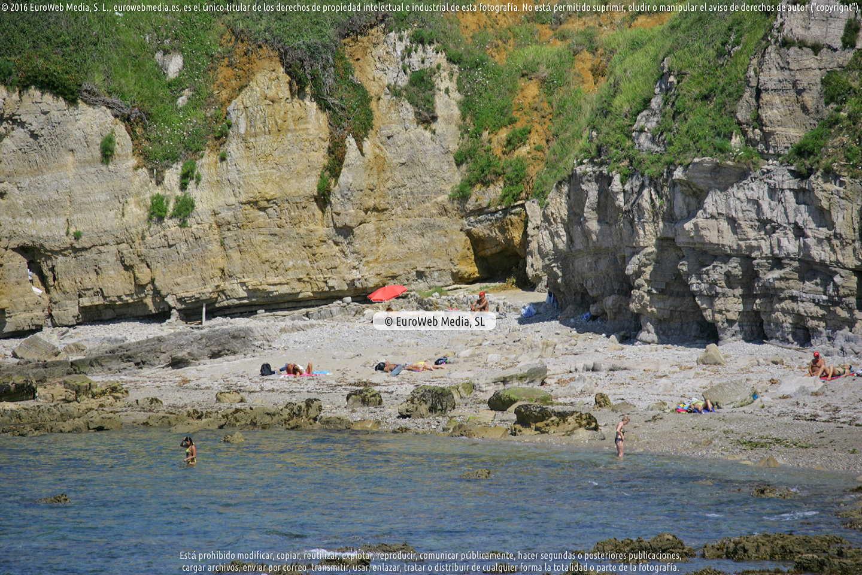 Fotografía de Playa del Cervigón en Gijón. Asturias. España.