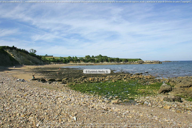 Fotografía de Playa de San Pedro de Antromero en Gozón. Asturias. España.