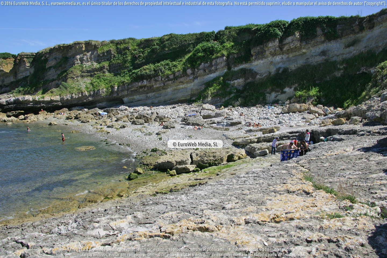 Fotografía de Playa los Cristales - El Bigaral en Gozón. Asturias. España.