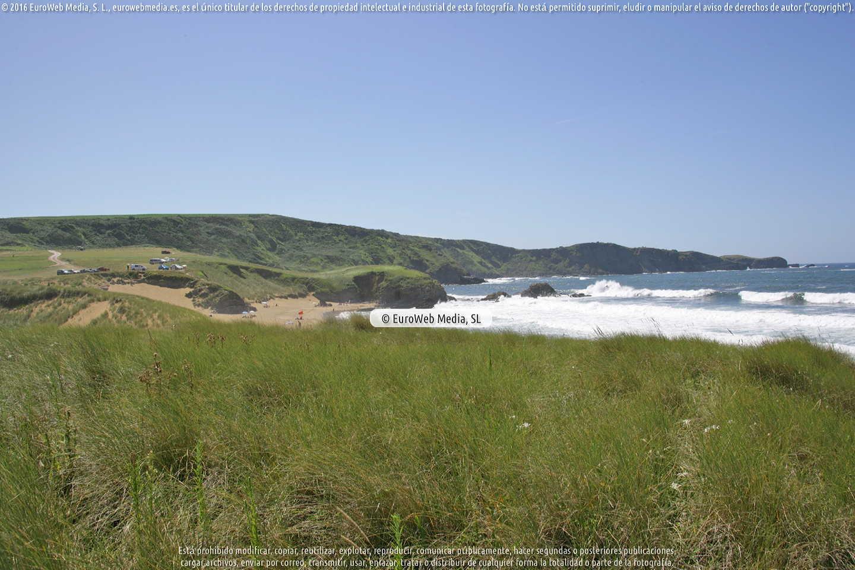 Fotografía de Playa Verdicio o Playa de Tenrero en Gozón. Asturias. España.