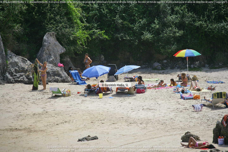 Fotografía de Playa Sorraos en Llanes. Asturias. España.