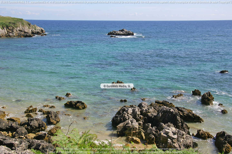 Fotografía de Playa Valle en Llanes. Asturias. España.