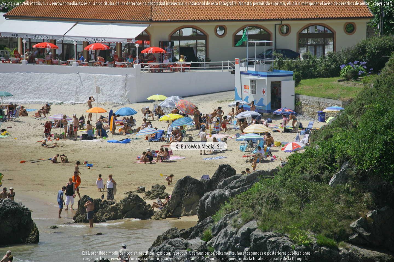 Fotografía de Playa de Palombina en Llanes. Asturias. España.