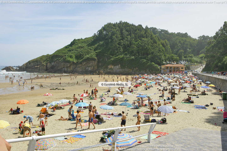 Fotografía de Playa Aguilar en Muros de Nalón. Asturias. España.