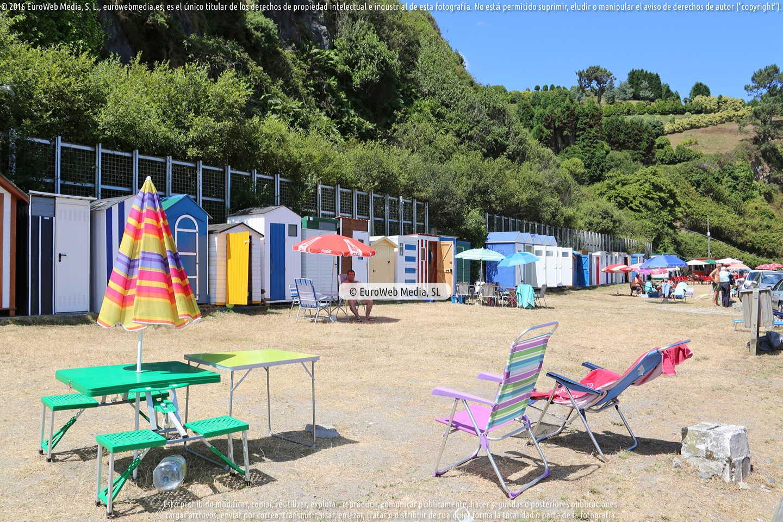 Fotografía de Playa 1ª y 2ª de Luarca en Valdés. Asturias. España.