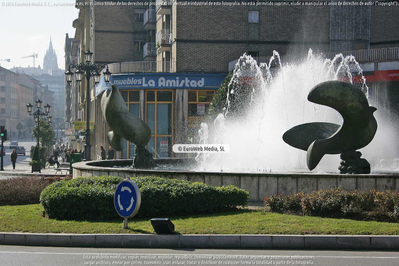 Fotografía de Escultura «Palomas» en Oviedo. Asturias. España.