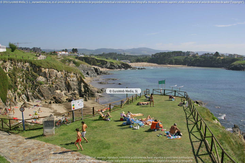 Fotografía de Playa de San Blas o la Ribeiría en Tapia de Casariego. Asturias. España.