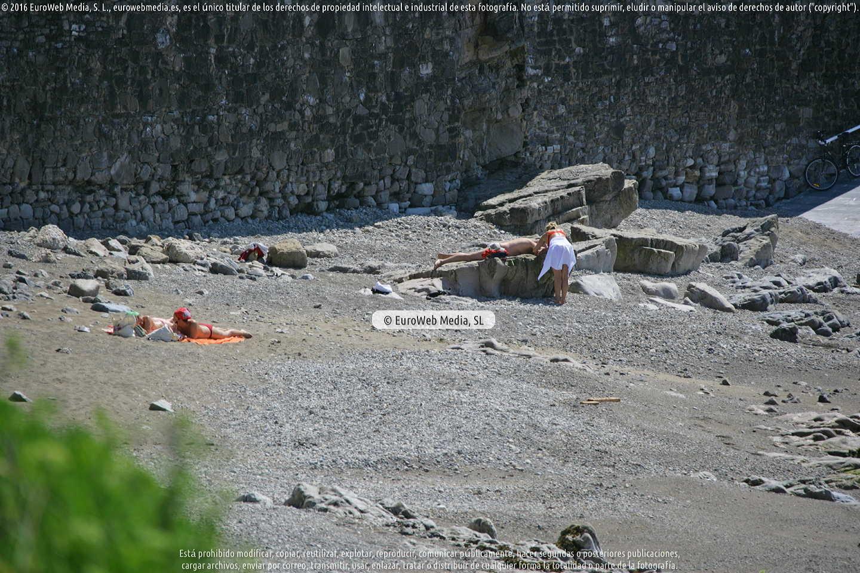 Fotografía de Playa de El Rinconín en Gijón. Asturias. España.