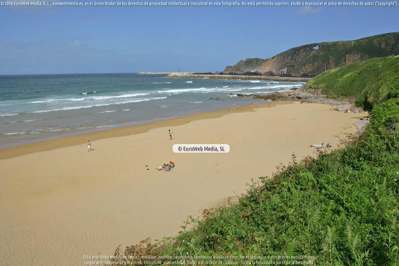 Fotografía de Playa Peña María en Carreño. Asturias. España.