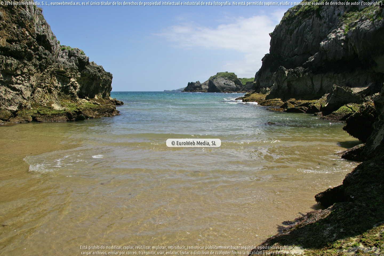 Fotografía de Playa de Castru Molina en Llanes. Asturias. España.