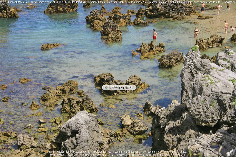 Fotografía de Playa Xiglú en Llanes. Asturias. España.