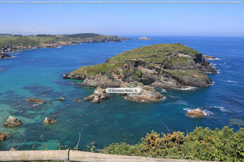 Fotografía de Mirador sobre la Playa de Porcía en El Franco. Asturias. España.