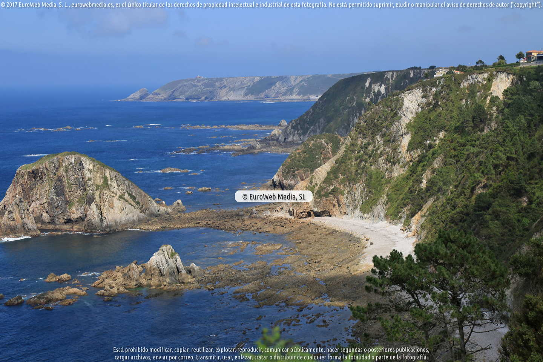 Fotografía de Playa de L'Airín en Cudillero. Asturias. España.