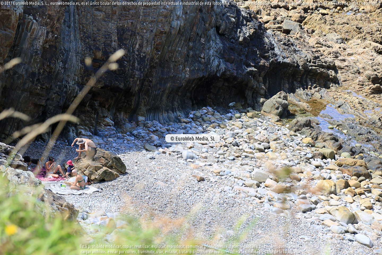 Fotografía de Playa de Salencia en Cudillero. Asturias. España.