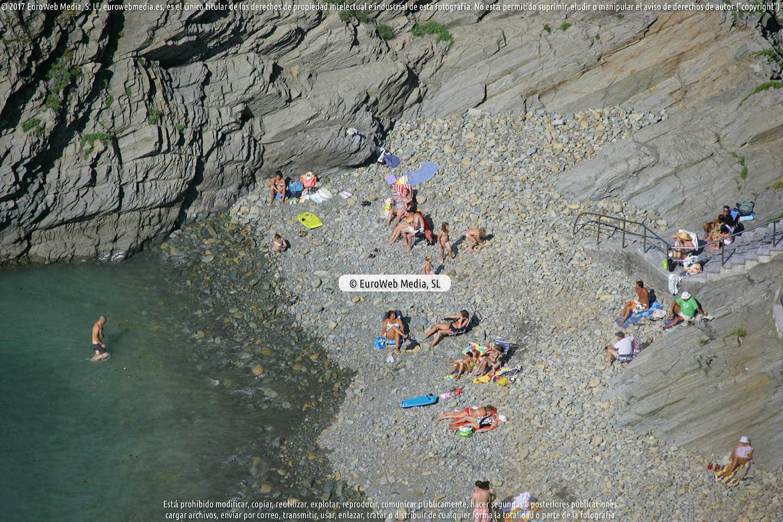 Fotografía de Playa de La Guardada en Muros de Nalón. Asturias. España.